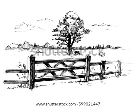 Wooden Country Fence Stock Images Royalty Free Images Vectors