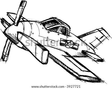 Sketchy Airplane Vector Illustration