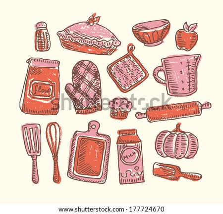 Sketchy Bakery - stock vector
