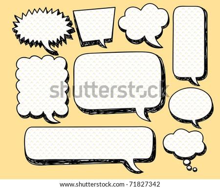 sketchy bubble speech - stock vector