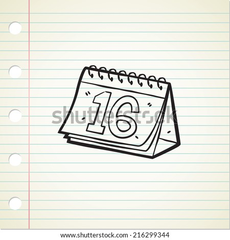 sketchy calendar - stock vector