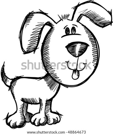Sketchy doodle Dog Vector Illustration - stock vector