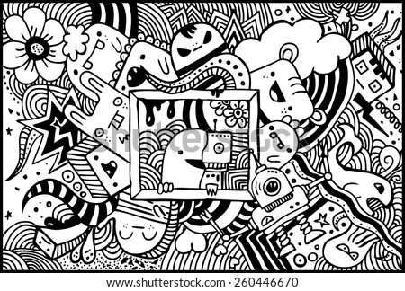 Sketchy doodles - stock vector