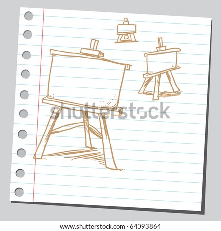 Sketchy easel boards - stock vector