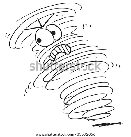 Sketchy illustration of a angry tornado - stock vector