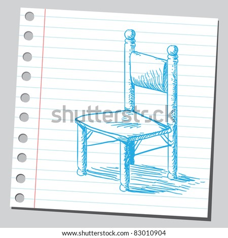 Sketchy illustration of a chair - stock vector