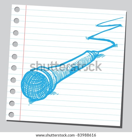Sketchy illustration of a microphone