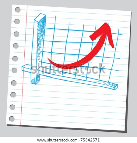 Sketchy illustration of a successful business graphic - stock vector
