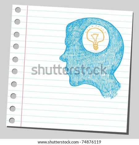 Sketchy illustration of an idea concept - stock vector