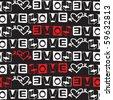 sketchy love fonts, vector design elements - stock vector