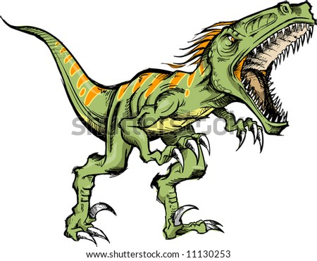 Raptor vector stock images royalty free images vectors - Dinosaure raptor ...