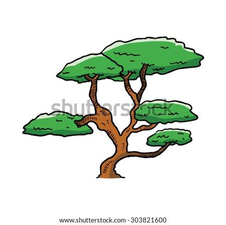 sketchy tree - stock vector