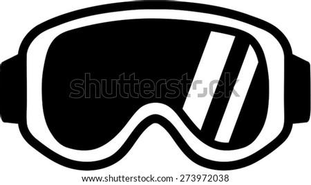 Ski Goggles Vector Ski Sport Goggles Stock
