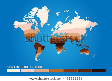 Skin world map color infographic dark vector de stock439119916 skin world map color infographic dark to light vector graphic gumiabroncs Choice Image