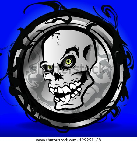 Skull - stock vector