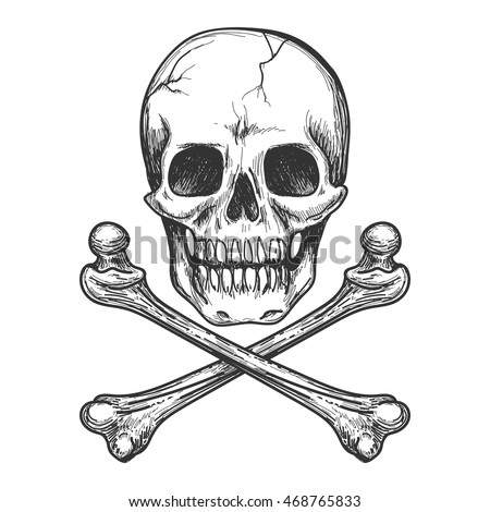Skull tattoo stock images royalty free images vectors for Skull and crossbones tattoo