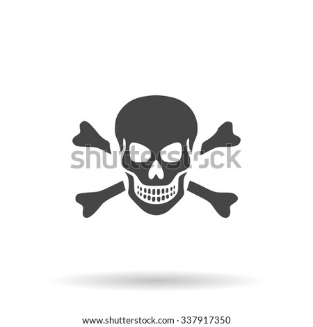 Skull and crossbones. Icon Vector - stock vector