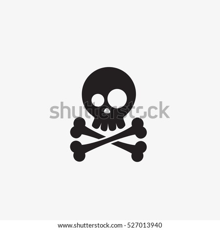 Skull and crossbones - vector illustration