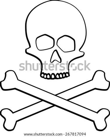 skull and crossed bones - stock vector
