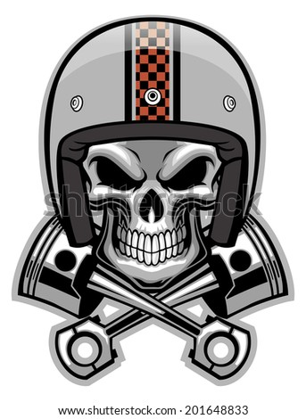Skull In Helmet Stock Images Royalty Free Images