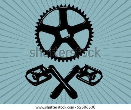 Skull bike. - stock vector