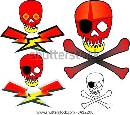 skull & bones - stock vector