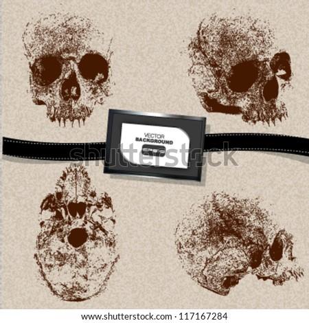 skull cartoon design. vector illustration - stock vector