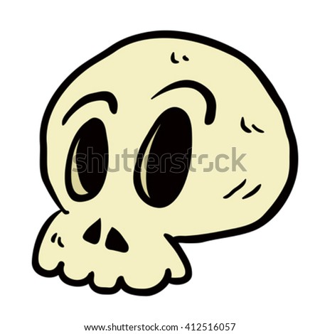 skull cartoon illustration isolated on white