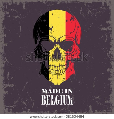 Skull color of the flag - stock vector