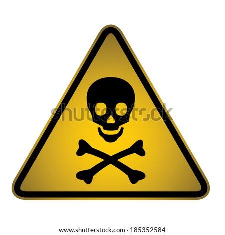 Skull Danger Warning Hazard Sign-Vector - stock vector