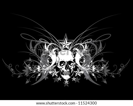 skull design - stock vector