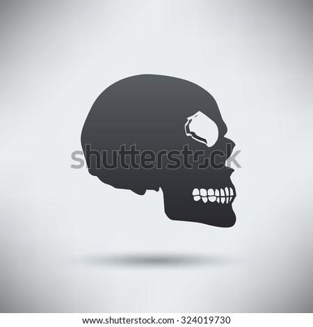 Skull design,clean vector - stock vector