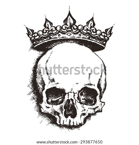 skull. drawing style. vector illustration - stock vector