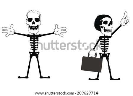Skeleton Stock Vector 96240644 - Shutterstock