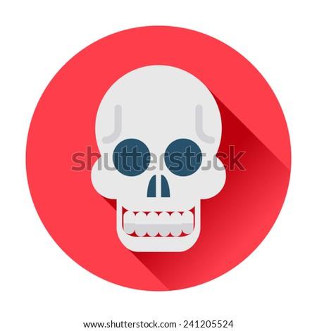 skull icon - stock vector