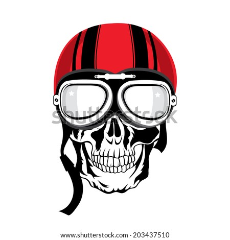 Skull illustration. T-shirt design. Tattoo art. - stock vector