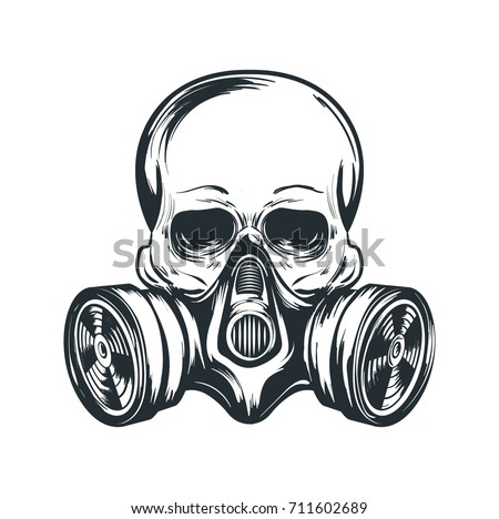 Skull Gas Mask Illustration Toxicity Emblem Stock Vector 711602689 - Shutterstock