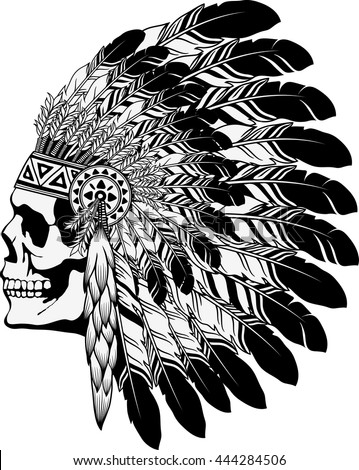 Native american chief skull