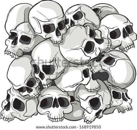Skull pattern Illustrated Skull pattern block. Can be duplicated, and moved to create as large a pattern as desired. Layered vector file. - stock vector