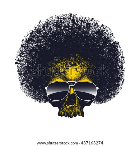 Skull reggae graphic design. Vector illustration - stock vector
