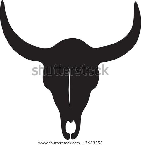 skull, vector - stock vector
