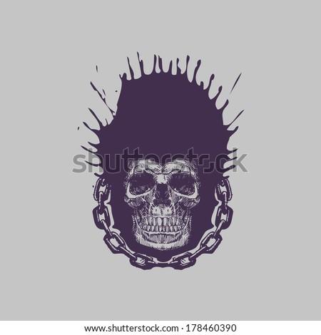 Skull. Vector format - stock vector