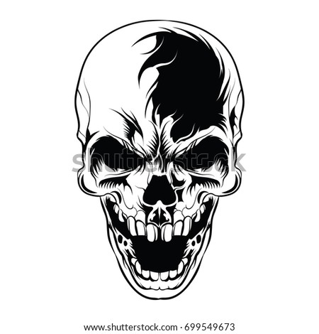 skull vector head laughter face stock photo photo vector rh shutterstock com skull vectoriel skull vector free download