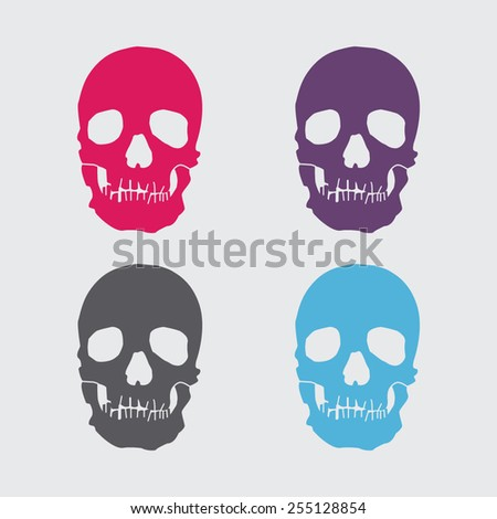 Skull vector icon. - stock vector