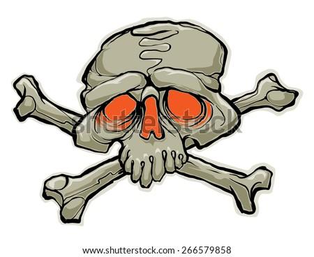 skull vector illustration - stock vector