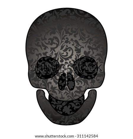 Skull. Vector Illustration - stock vector