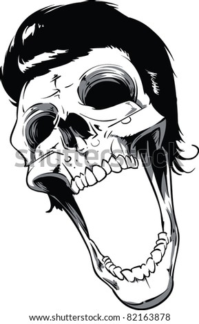Skull Vector Illustration - stock vector