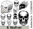 Skull vector set - stock vector