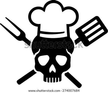 skull chef stock images royalty free images vectors shutterstock. Black Bedroom Furniture Sets. Home Design Ideas