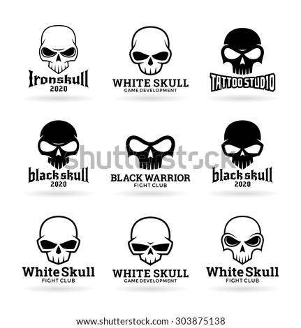 Skulls (3) - stock vector